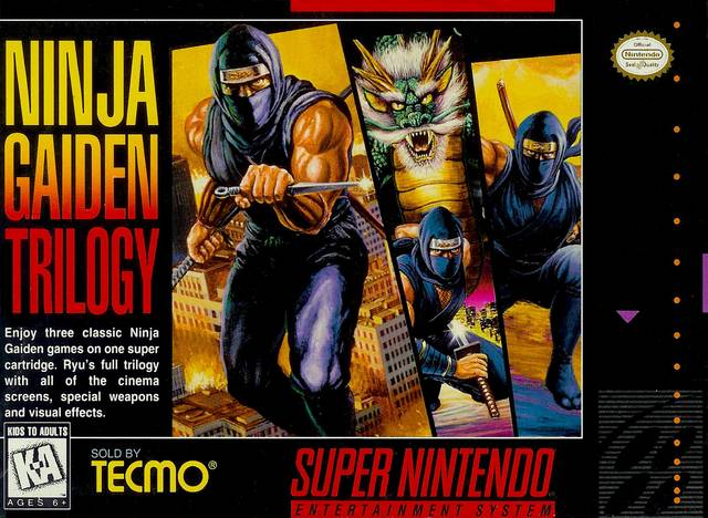 Ninja Gaiden Trilogy - Super Nintendo [USED]