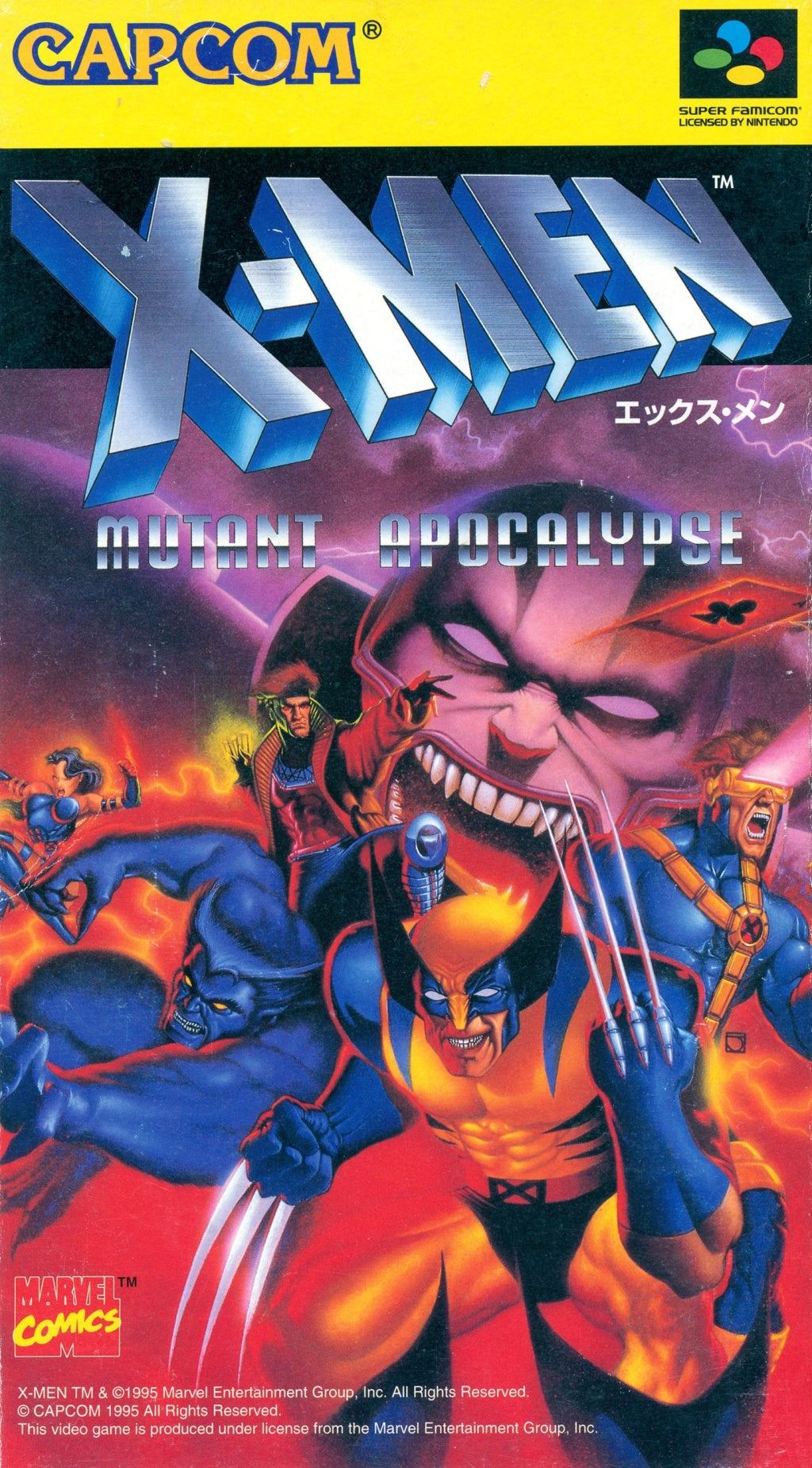 X-Men: Mutant Apocalypse - Super Famicom (Japan) [USED]