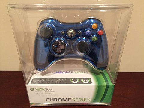 Microsoft Xbox 360 Special Edition Chrome Series Wireless Controller - Blue - Xbox 360