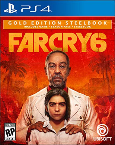 Farcry 6 PlayStation 4 Gold Edition Steelbook Box Cover