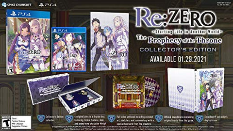 Re:ZERO – The Prophecy of the Throne Collector's Edition – PlayStation 4