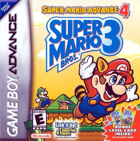 Super Mario Advance 4: Super Mario Bros. 3 (2 Bonus e-Reader Cards) - Game Boy Advance [USED]