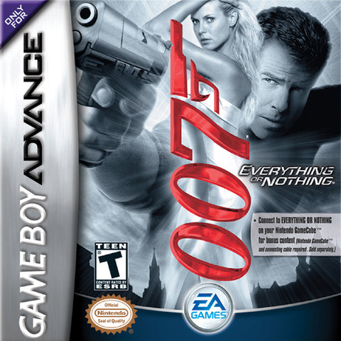 007: Everything or Nothing - Game Boy Advance (TPS, 2003, US )