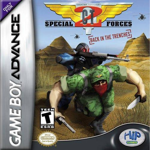 CT Special Forces 2: Back in the Trenches - Game Boy Advance (ACT, 2003, US )