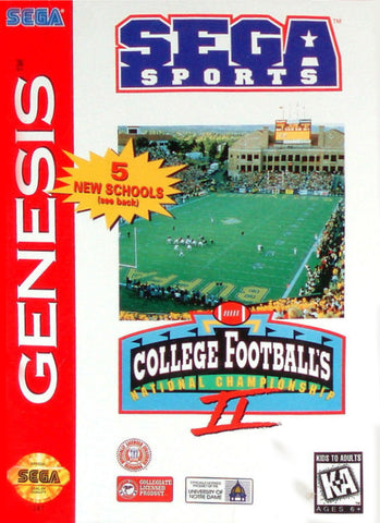College Football's National Championship II - SEGA Genesis [USED]