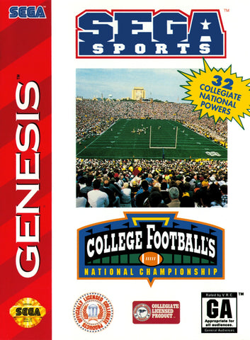 College Football's National Championship - SEGA Genesis [USED]