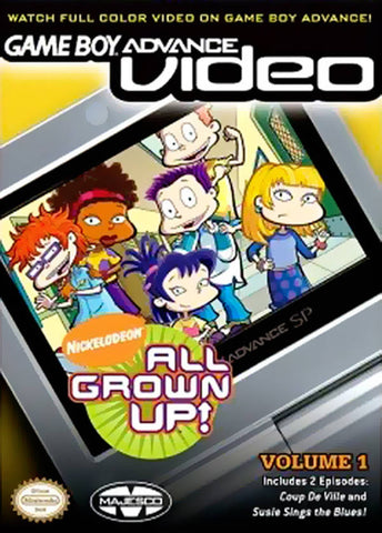 Game Boy Advance Video: All Grown Up! Volume 1 - Game Boy Advance [USED]