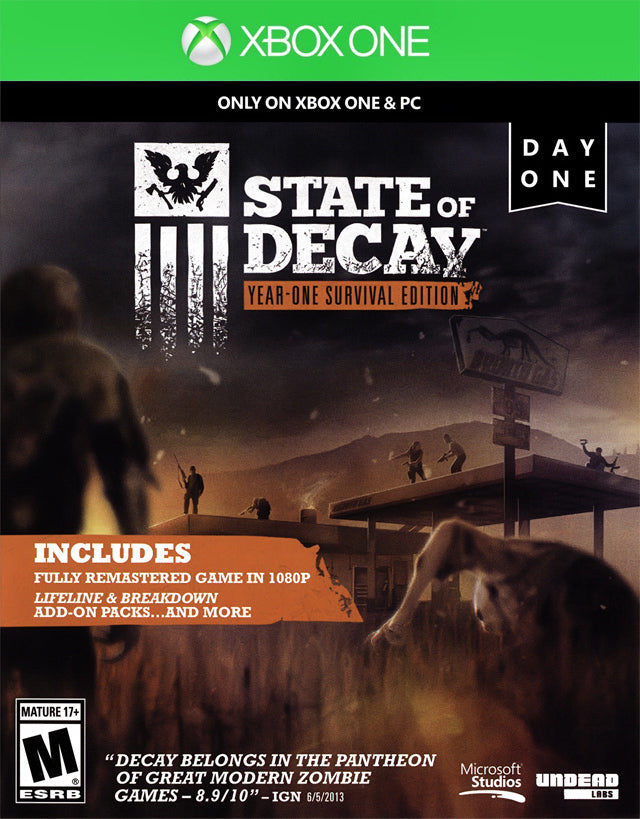 State of Decay: Year One Survival Edition (Day One Edition) - Xbox One