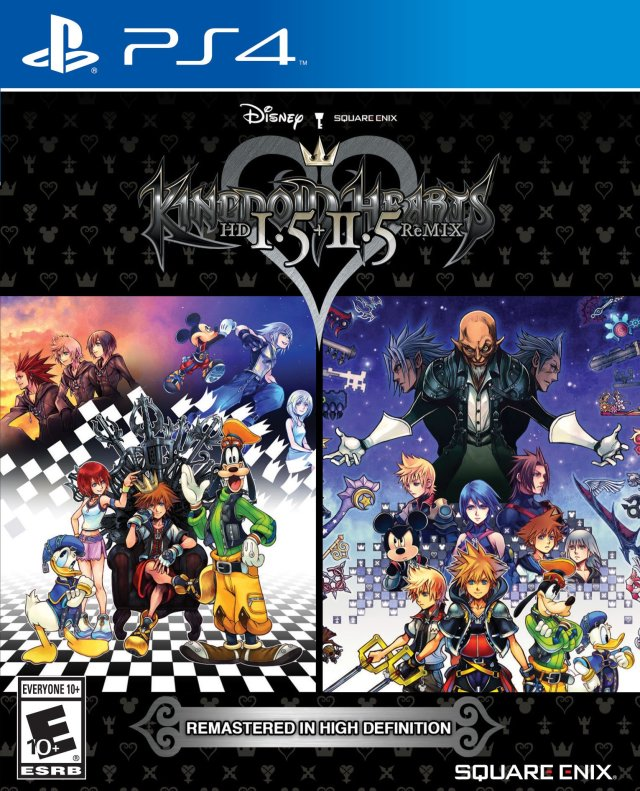 Kingdom Hearts HD I.5 + II.5 Remix - PlayStation 4 Front Cover