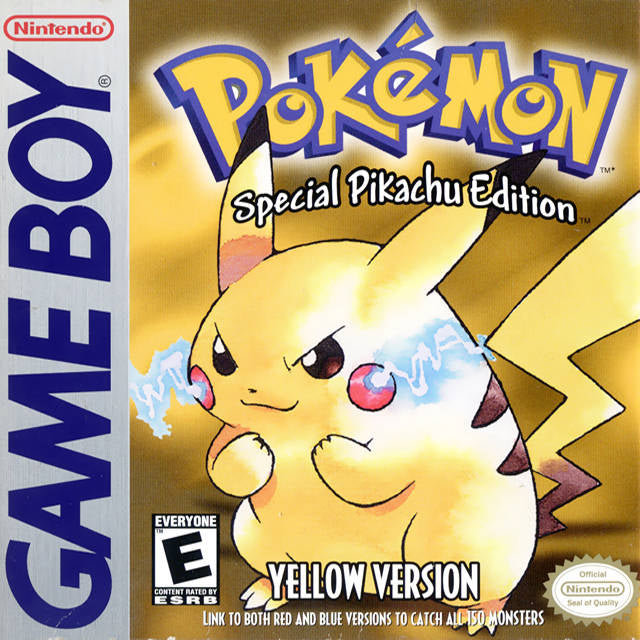 Pokemon Yellow Version: Special Pikachu Edition - Game Boy (RPG, 1998, US )