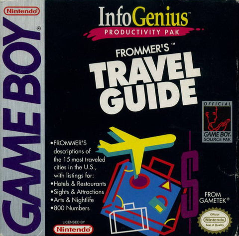 InfoGenius Productivity Pak: Frommer's Travel Guide - Game Boy [USED]