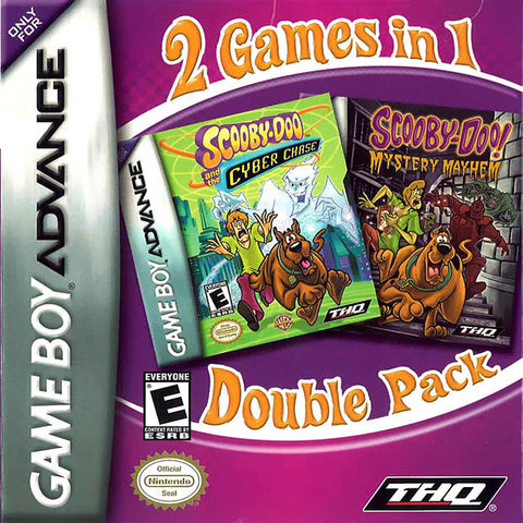 2 Games in 1 Double Pack: Scooby-Doo and the Cyber Chase / Scooby-Doo! Mystery Mayhem - Game Boy Advance (TAB, 2005, US )