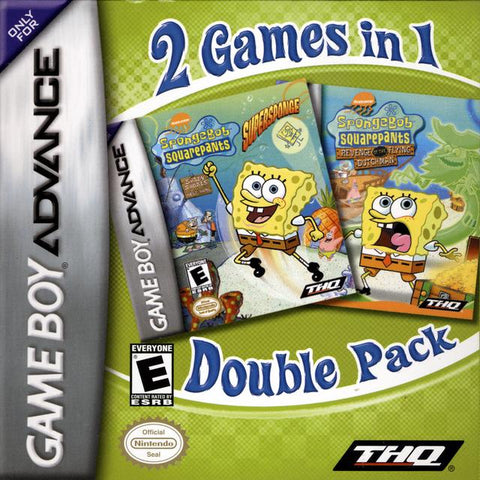 2 Games In 1 Double Pack - SpongeBob SquarePants: SuperSponge / SpongeBob SquarePants: Revenge of the Flying Dutchman - Game Boy Advance [USED]
