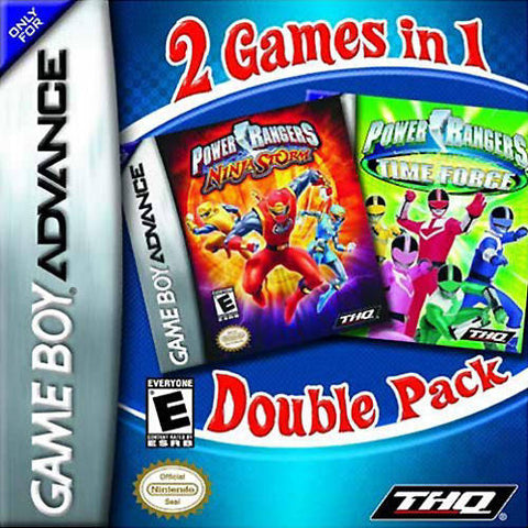 2 Games In 1 Double Pack: Power Rangers: Time Force / Power Rangers: Ninja Storm - Game Boy Advance [USED]