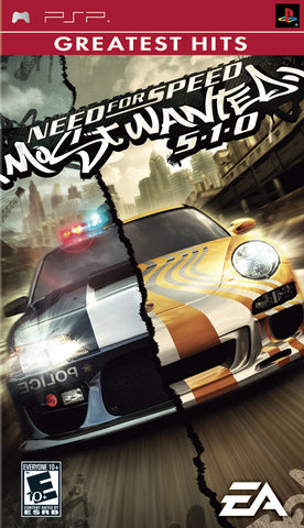 Need for Speed Most Wanted 5-1-0 (Greatest Hits) - PSP