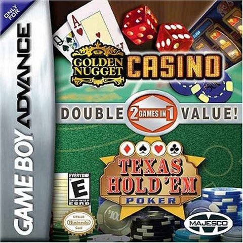 Golden Nugget Casino / Texas Hold 'Em Double Pack - Game Boy Advance [NEW]
