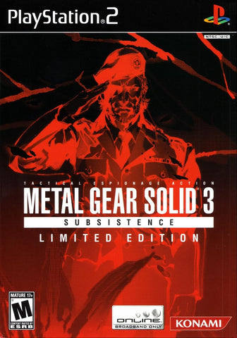 Metal Gear Solid 3: Subsistence (Limited Edition) - PlayStation 2