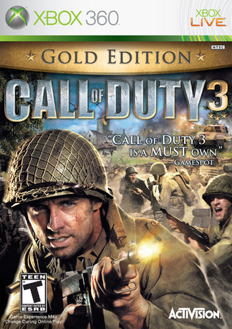Call of Duty 3 (Gold Edition) - Xbox 360