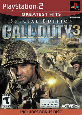 Call of Duty 3 (Special Edition) (Greatest Hits) - PlayStation 2