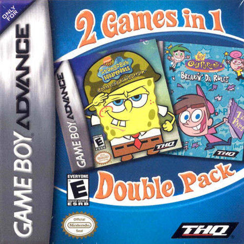 SpongeBob SquarePants / Fairly OddParents Double Pack - Game Boy Advance [USED]