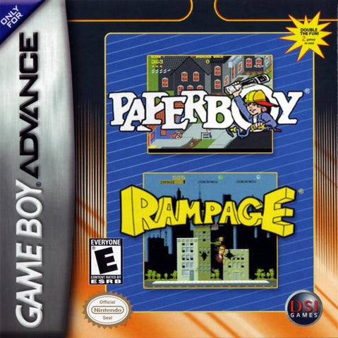 Paperboy / Rampage - Game Boy Advance [USED]