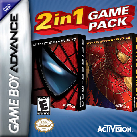 2 In 1 Game Pack: Spider-Man / Spider-Man 2 - Game Boy Advance [USED]