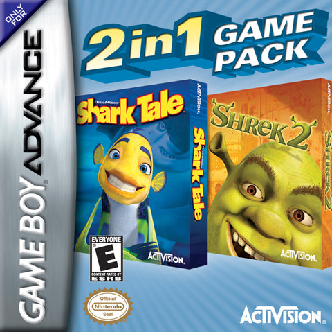 2 In 1 Game Pack: Shrek 2 / Shark Tale - Game Boy Advance