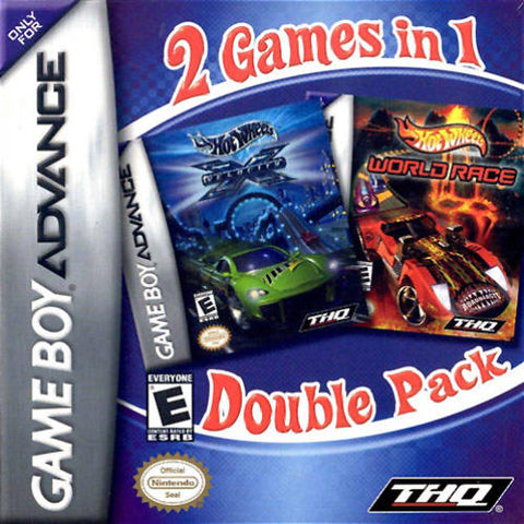 2 Games In 1 Double Pack - Hot Wheels: World Race / Velocity X - Game Boy Advance [USED]