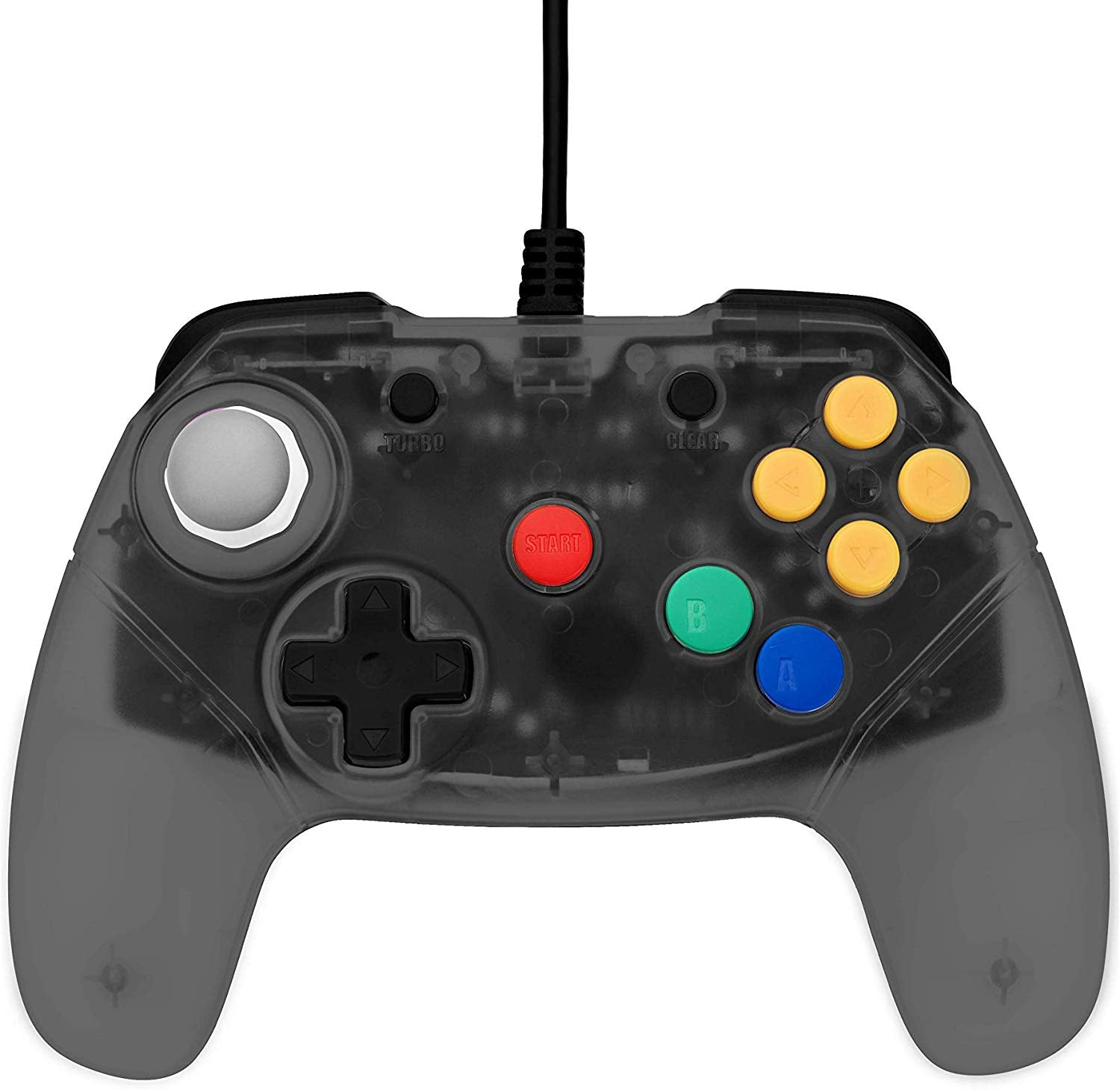 Retro Fighters Brawler64 Next Gen N64 Controller Game Pad - Nintendo 64 - Smoke Gray
