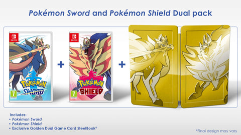 Pokemon Sword and Shield Steelbook Dual Edition (Nintendo Switch)