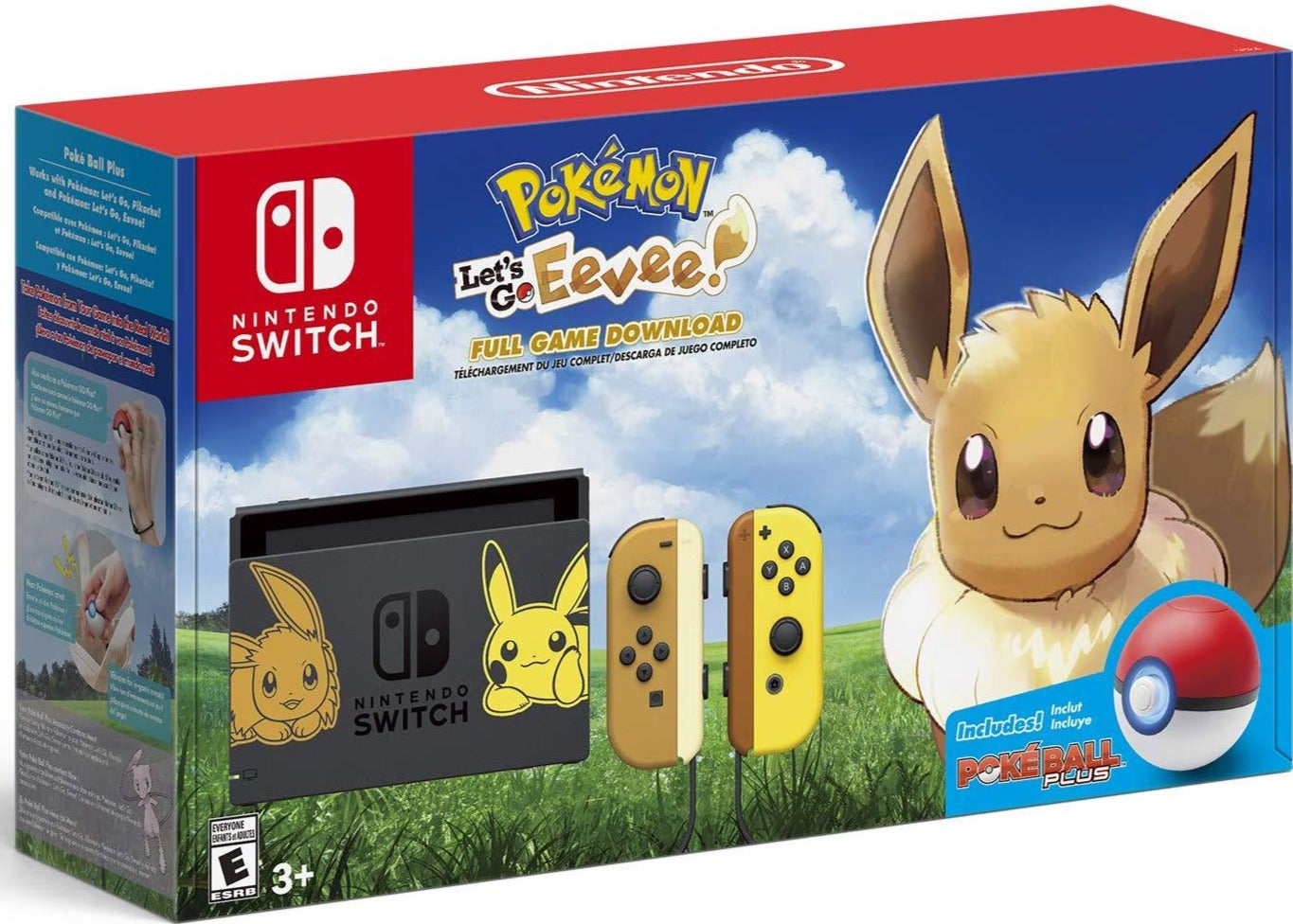 Pokemon: Let's Go, Eevee! (Nintendo Switch Pikachu &Pokemon: Let's Go, Eevee! (Nintendo Switch Pikachu & Eevee Console Bundle) - Nintendo Switch
