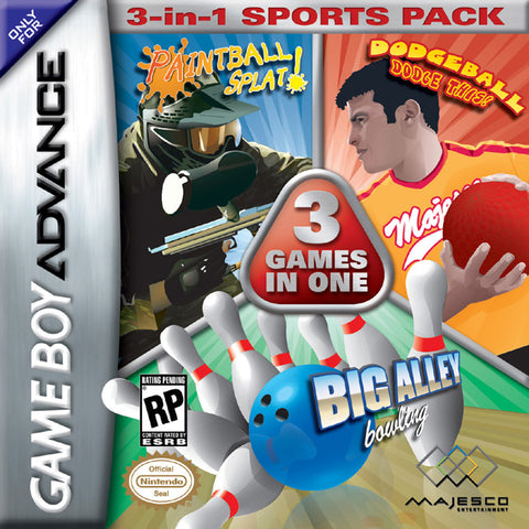 3-in-1 Sports Pack: Paintball Splat! / Dodgeball Dodge This! / Big Alley Bowling - Game Boy Advance