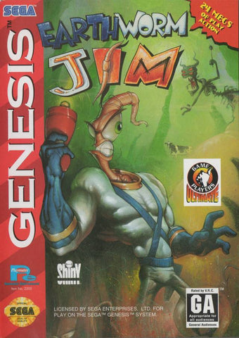 Earthworm Jim - SEGA Genesis [USED]