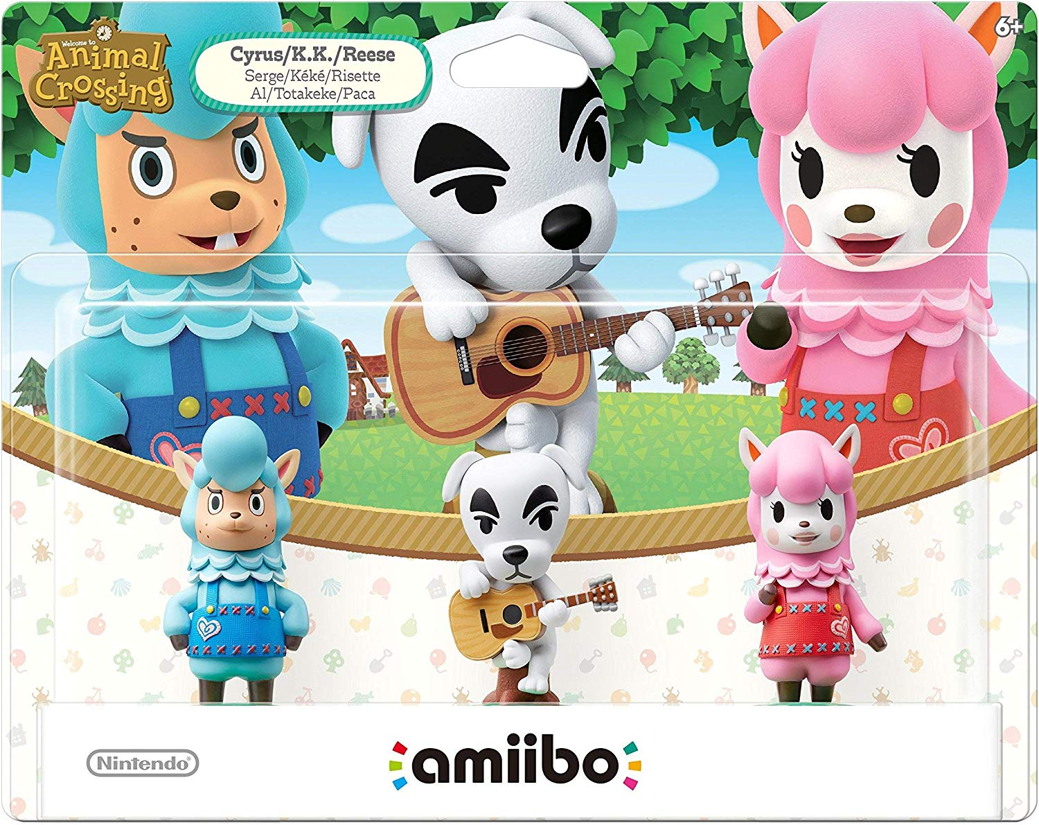 Cyrus/K.K./Reese 3-Pack Amiibo (Animal Crossing Series)