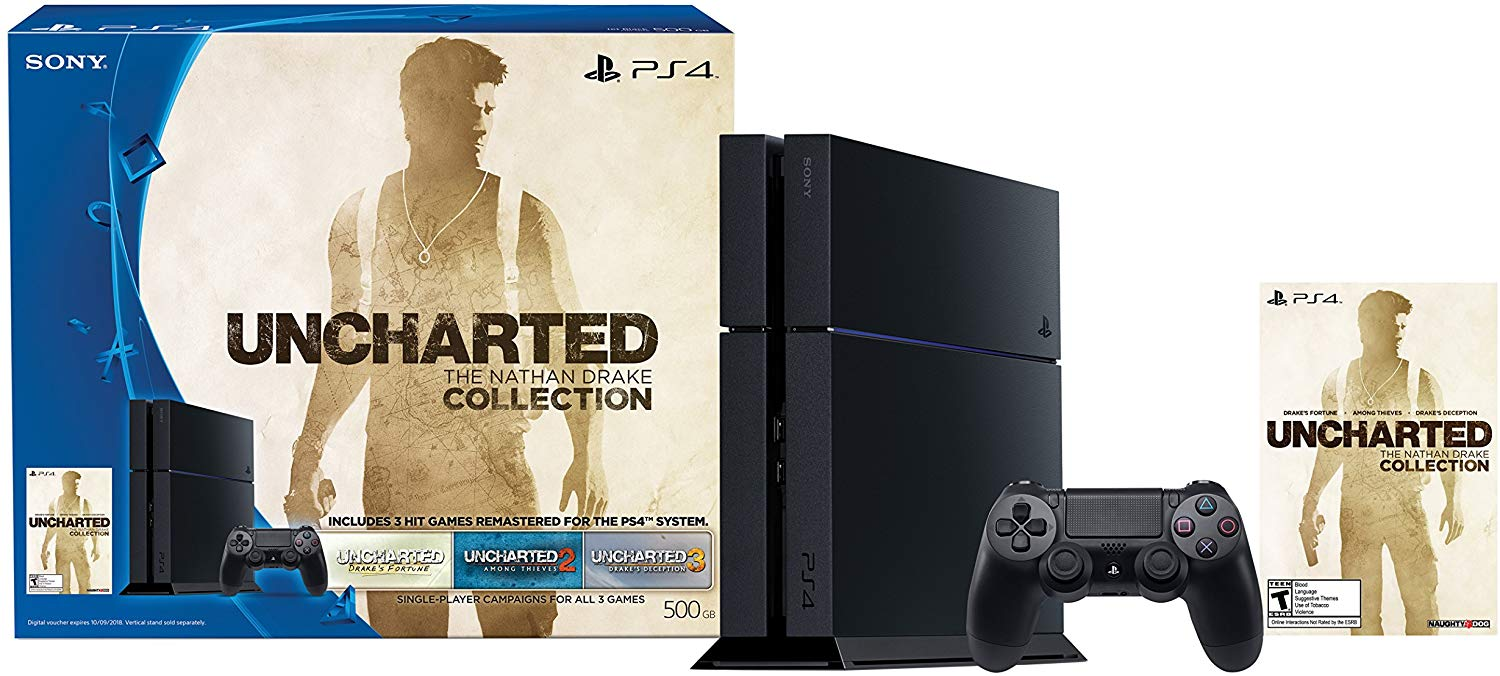 Sony PlayStation 4 500GB Uncharted: The Nathan Drake Collection Bundle (Digital Download Code)