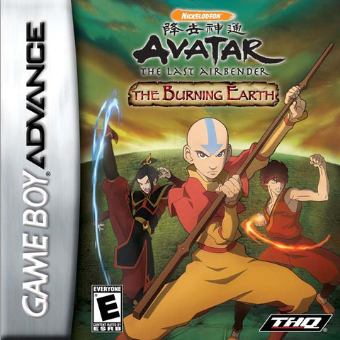 Avatar: The Last Airbender - The Burning Earth - Game Boy Advance (A-AVG, 2007, US )