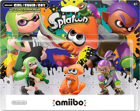 Splatoon 3-Pack (Splatoon Series) Amiibo (New Colors)