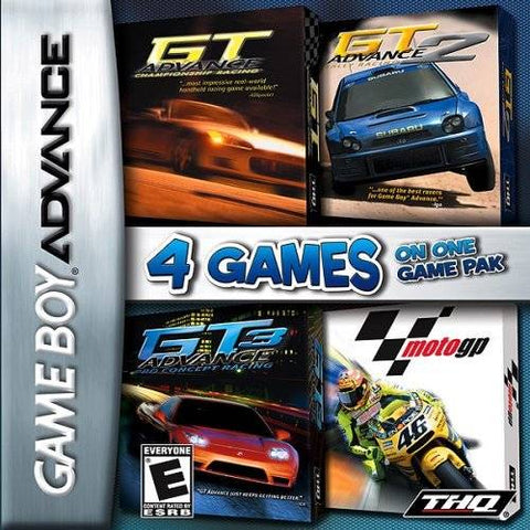 4 Games on One Game Pak: GT Advance / GT Advance 2  / GT Advance 3 / MotoGP - Game Boy Advance