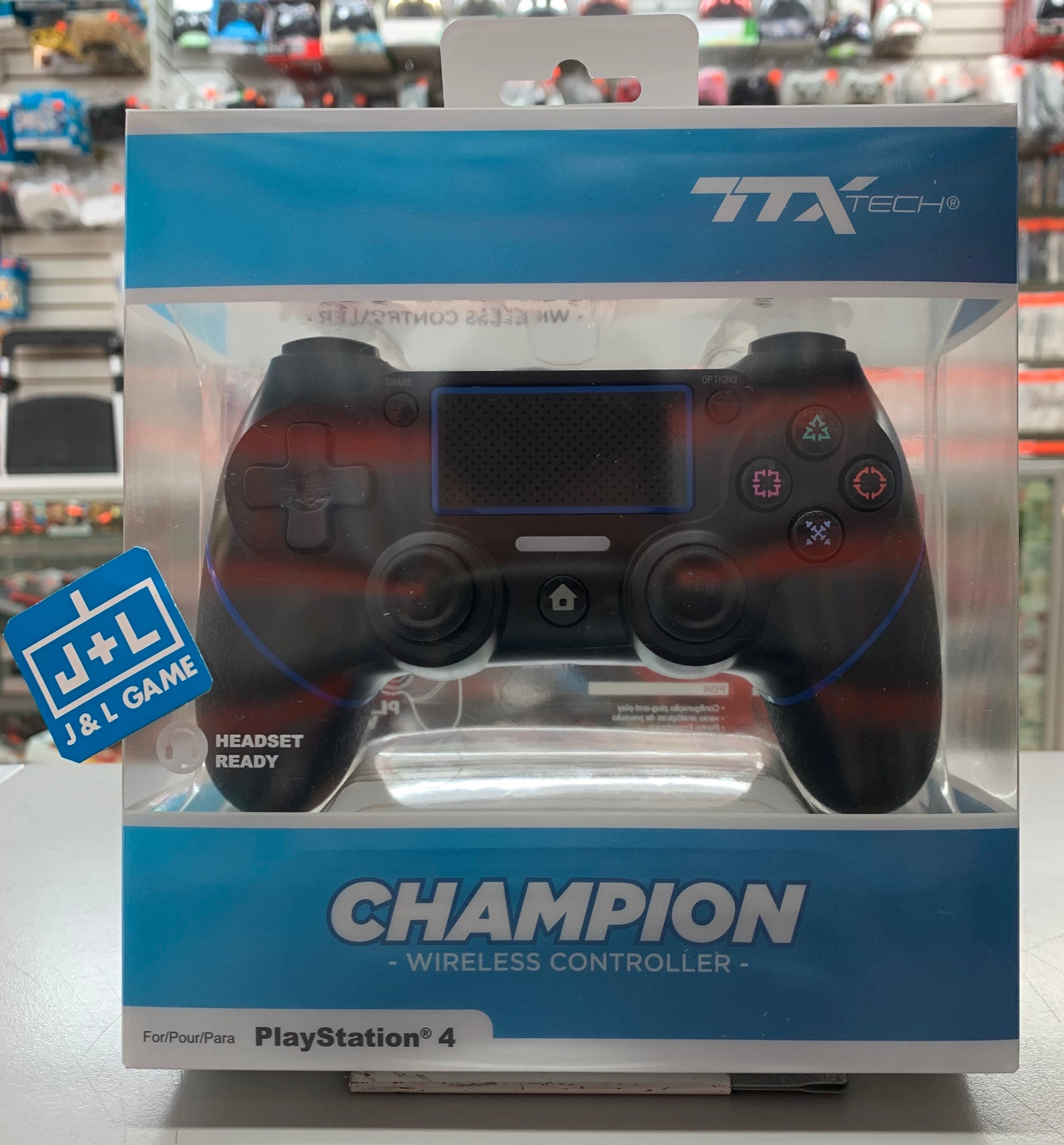 TTX Champion PS4 Wireless Controller for Playstation 4 - Black
