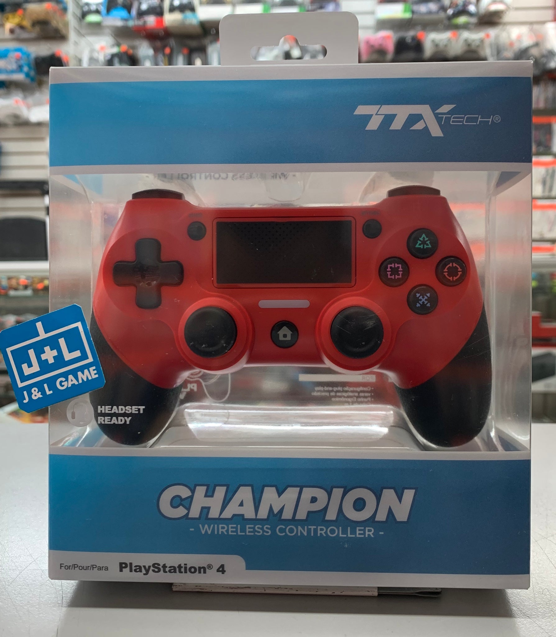 TTX Champion PS4 Wireless Controller for PlayStation 4 - RED