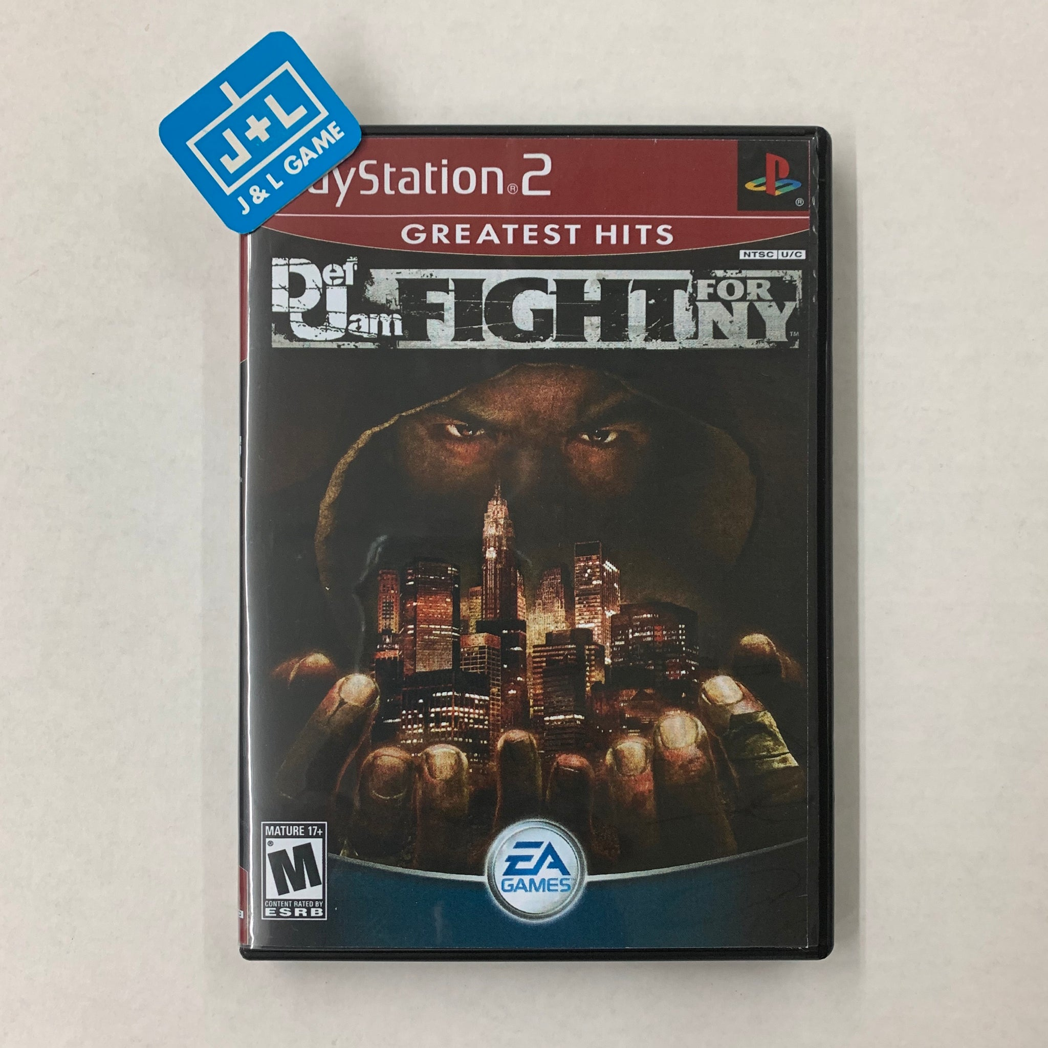 Def Jam: Fight for NY ( Greatest Hits Printed Cover ) - PlayStation 2-Front