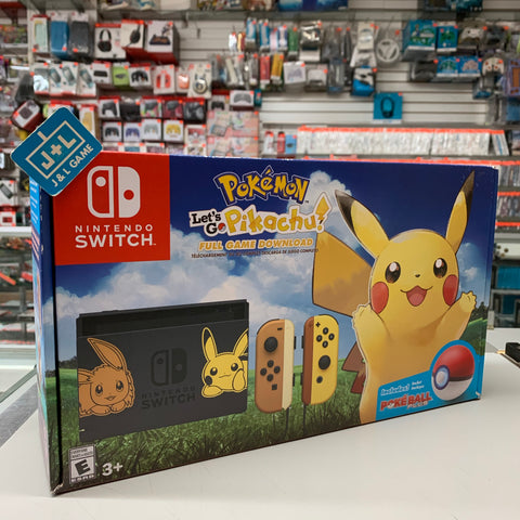 Pokemon: Let's Go, Pikachu! (Nintendo Switch Pikachu & Eevee Console Bundle) - Nintendo Switch