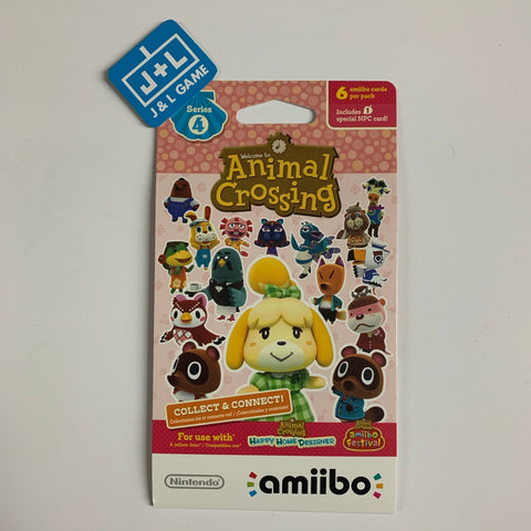 Nintendo Animal Crossing Cards - Series 4 (Pack of 6 cards) [NEW]