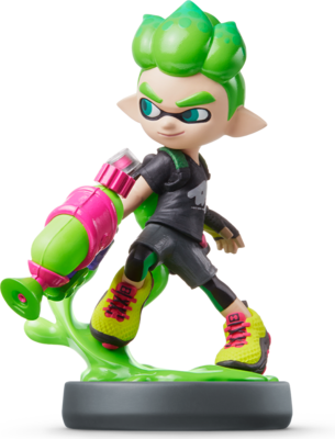 Inkling Boy (Splatoon Series) Amiibo (Neon Green)
