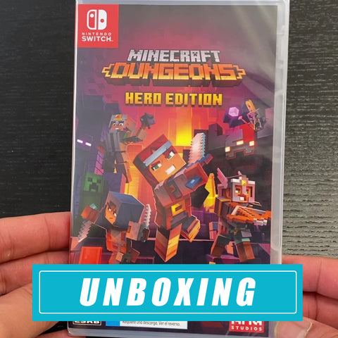 Minecraft Dungeons Hero Edition Unboxing Nintendo Switch