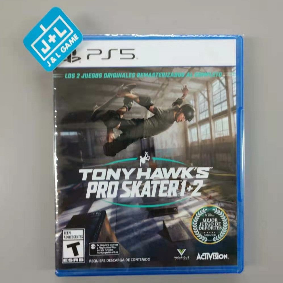 Tony Hawk Pro Skater 1+2 - PlayStation 5 Standard Edition Front Cover