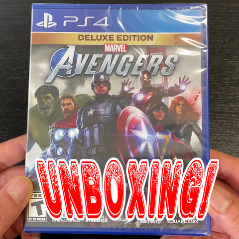 UNBOXING Marvel's Avengers: Deluxe Edition - PlayStation 4