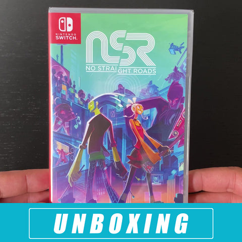 Unboxing No Straight Roads NSR - Nintendo Switch