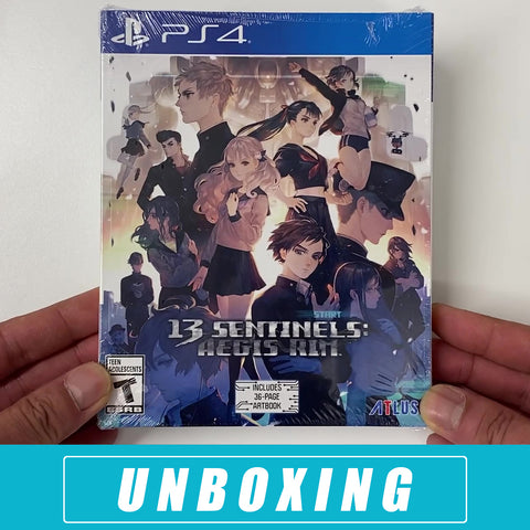 13 Sentinels: Aegis Rim Unboxing PlayStation 4