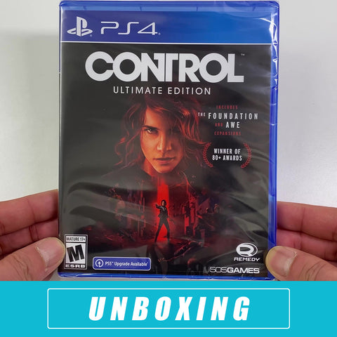 Control: Ultimate Edition Unboxing - PS4